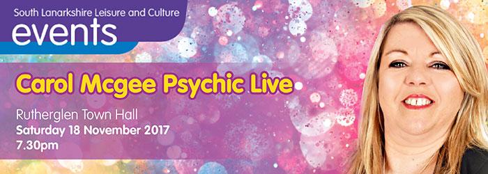 Carol Mcgee Psychic Live, Rutherglen Town Hall, Rutherglen, South Lanarkshire,