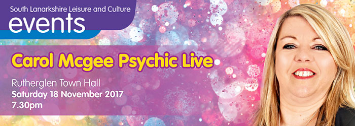 Carol Mcgee Psychic Live, Rutherglen Town Hall, Rutherglen, South Lanarkshire,