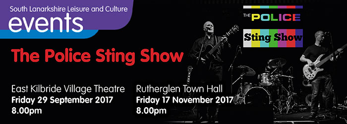 The Police Sting Show, Rutherglen Town Hall, Rutherglen, South Lanarkshire,