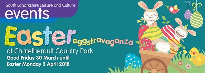 Easter Eggstravaganza at Chatelherault, Chatelherault Country Park, Ferniegair, Hamilton, South Lanarkshire,