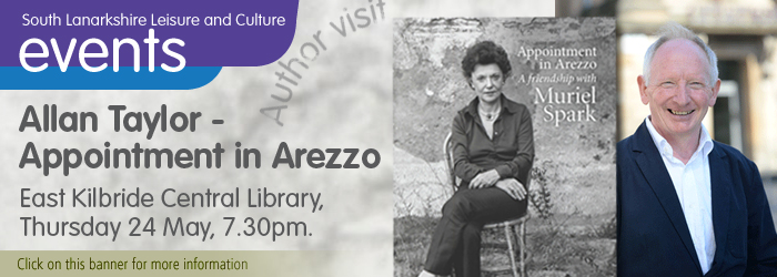Alan Taylor, Appointment in Arezzo, East Kilbride Central Library, author visit, South Lanarkshire Leisure and Culture, South Lanarkshire,