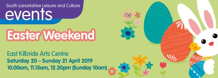 Come and join us this weekend at East Kilbride Arts Centre where we will have a whole host of fun family activities for the Easter Weekend!