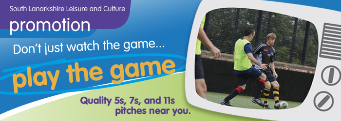 Football in South Lanarkshire.  Findout what Football pitches South Lanarkshire Leisure and Culture has to offer.