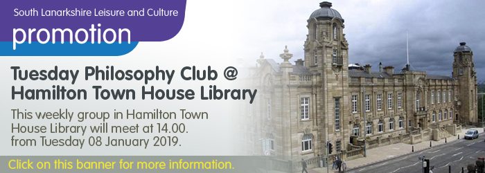 Tuesday Philosophy Club at Hamilton Town House Library