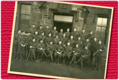 8th Battalion The Cameronians (Scottish Rifles) Officers Photograph