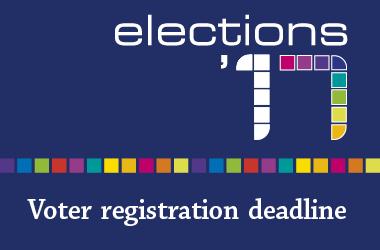 voter registration deadline 2017