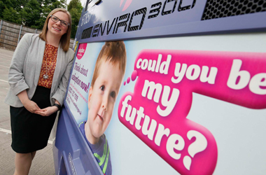 Find 40 Families adoption campaign backed by Councillor Lynsey Hamilton, Depute Chair of Social Work Resources and a member of the South Lanarkshire Fostering and Adoption Panel.