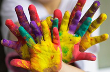 arts and crafts - painted hands - image taken from Visit Lanarkshire website