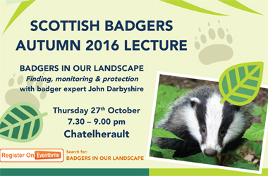 Scottish Badgers autumn lecture is coming to Chatelherault Country Park