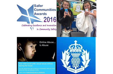 Poster promoting People's Choice awards nomination Lanarkshire Police