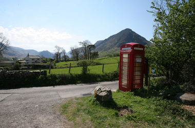 red phone box - BT