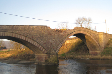 Boat Bridge near Thankerton damaged after being struck by a vehicle