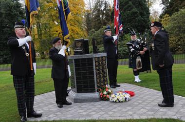 dedication service for the new War Memorial in Hamilton