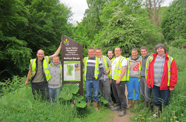 Volunteers working with Clyde and Avon Valley group