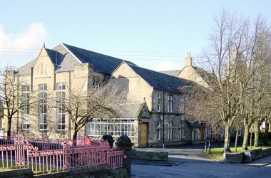 exterior view of Cambuslang Institute from Greenlees Road