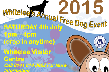 poster advertising Canine Capers annual event at Whitelee Windfarm