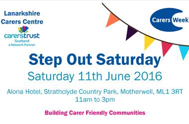 Lanarkshire Carers Week 2016 flyer