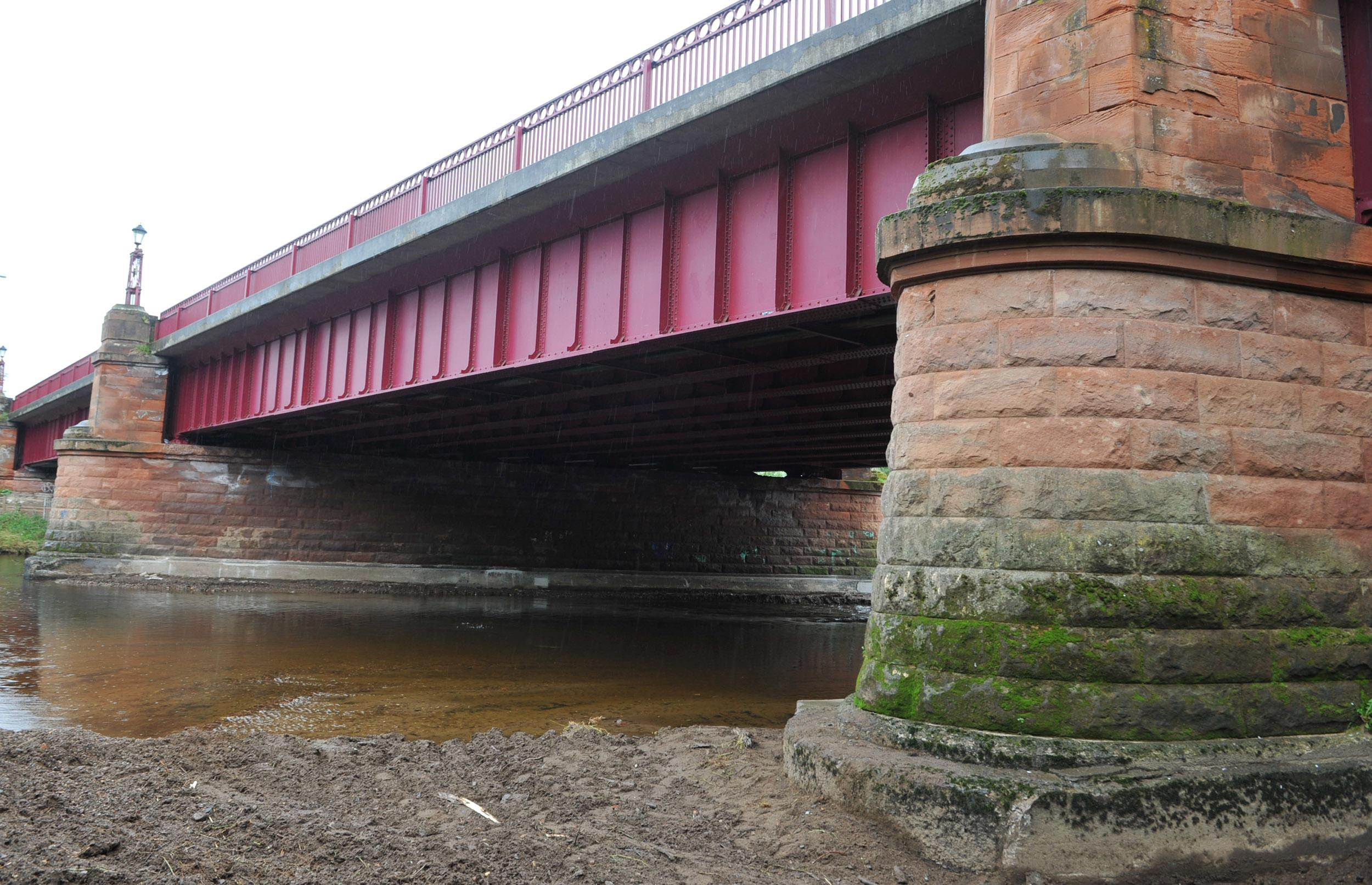 view of underside of Clyde Bridge