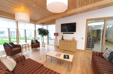 living room area in sheltered housing complex