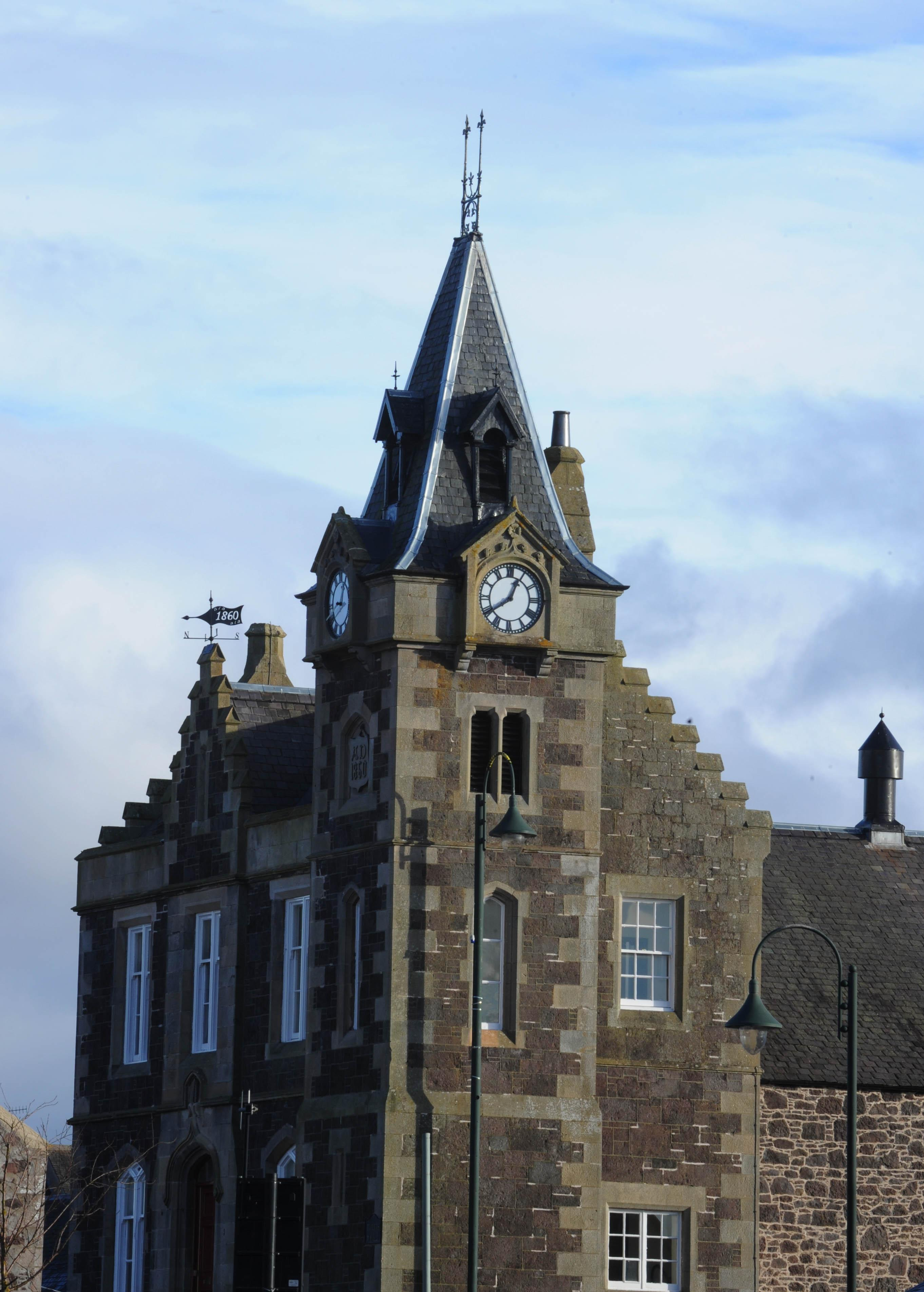 exterior view of Corn Exchange in Biggar