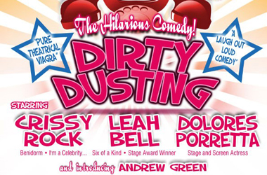 Dirty Dusting poster for performance at Lanark Memorial Hall