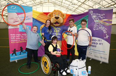 Group of Primary School pupils who took part in the Disability Sports event at Hamilton Palace Grounds 2016