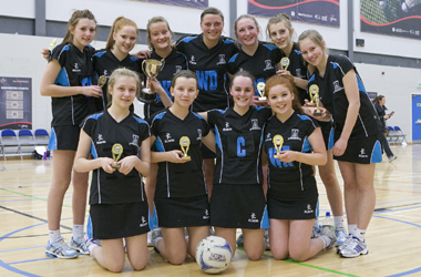 girls team from Duncanrig Secondary who won Scottish Schools open championship in 2012