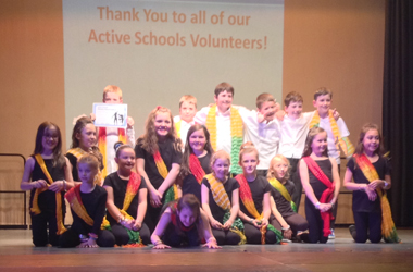some of the 200 boys and girls who took part in this year's East Kilbride and Strathaven primary dance showcase