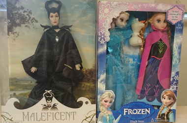 Maleficent and Frozen dolls containing dangerous chemicals