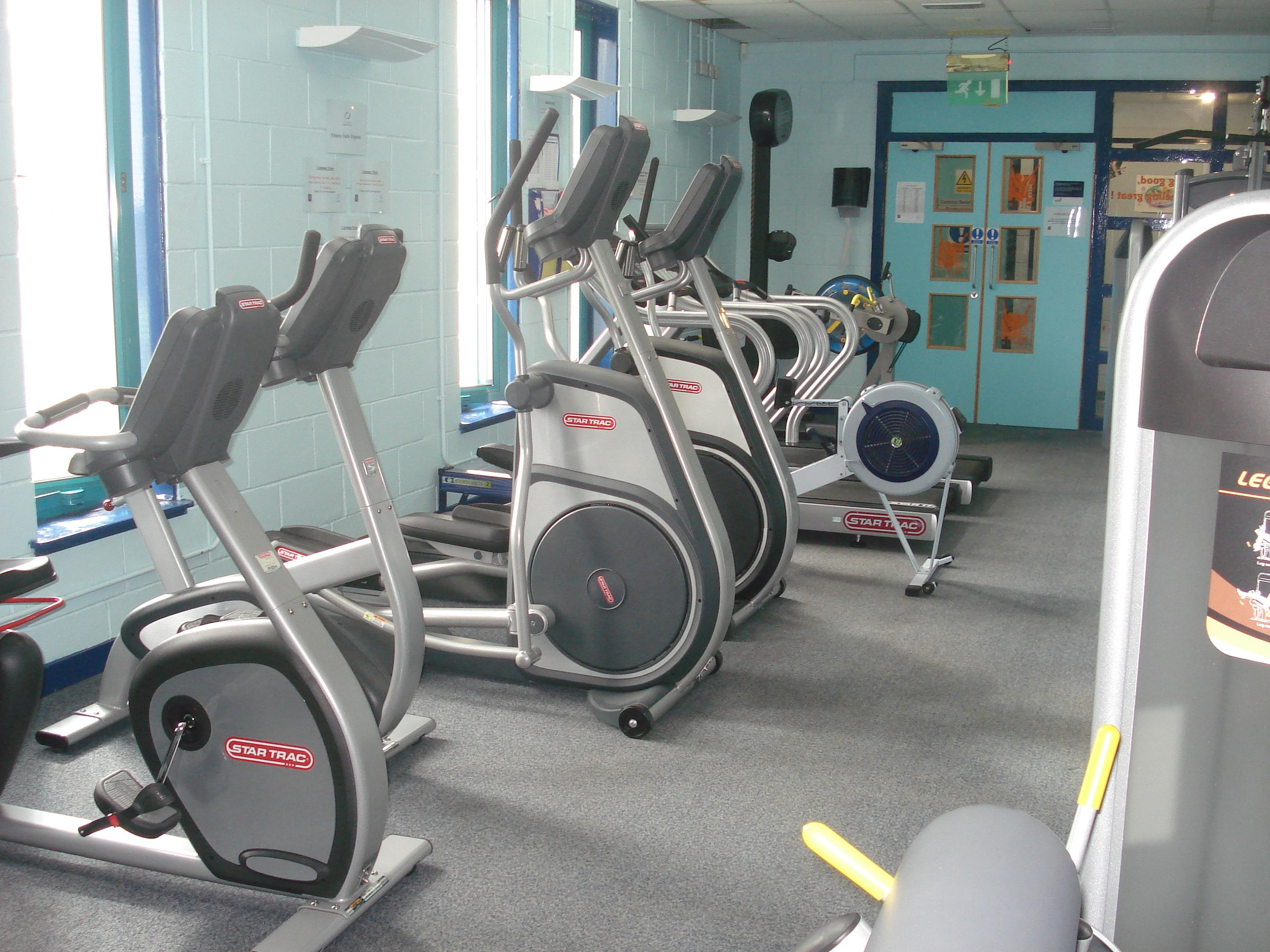 new gym equipment at Forth community centre