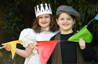 girl and boy dressed up for gala day