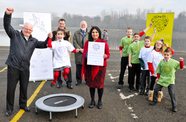 pupils promote Get Active Lanarkshire initiative
