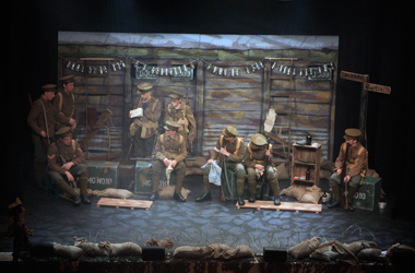 stage production of God King Country