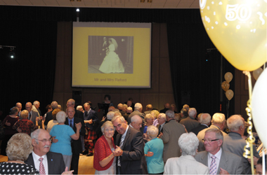 couples dancing at Golden Weddings, Banqueting Hall, South Lanarkshire Council HQ