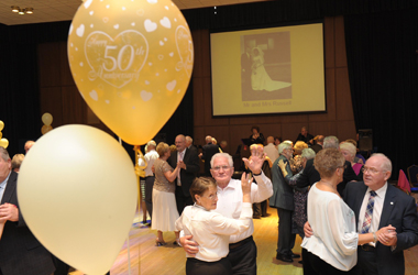 couples dancing at the Golden Wedding celebrations 2014