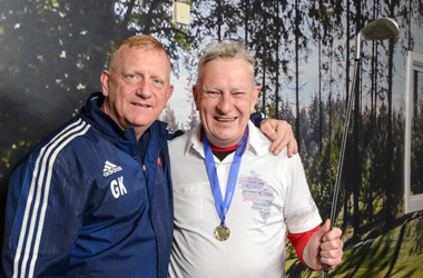 Garry King and Chris Wands who took part in the special golf event to promote the game's benefits for those with mental health issues