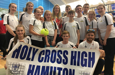 Holy Cross High School was the sole representative from our area at a special event celebrating our Olympians and Paralympians