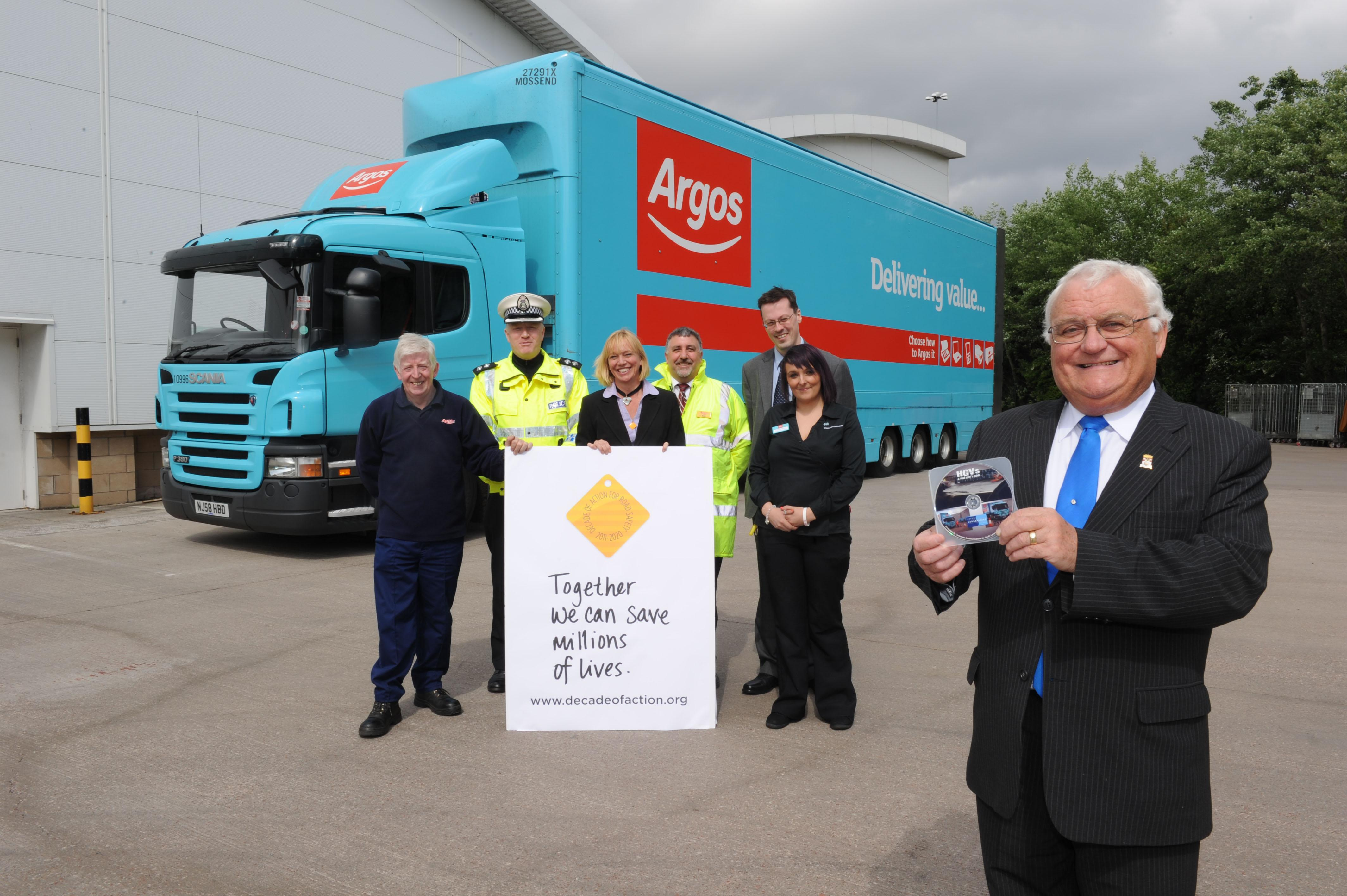Norrie Perry, Driver, Norbert Dentressangle, Inspector Keith Prentice, Strathclyde Police, Eleanor Gibson, Road Safety Training Officer, South Lanarkshire Council, Murray Carle, Store Manager, Argos, Christiana Miller, Team Leader, Argos, Brian Gallacher,