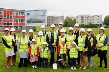Work starts on the rebuild of Halfmerke Primary School, Halfmerke Community Nursery and West Mains School