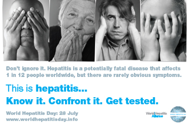 part of Hepatitis awareness campaign