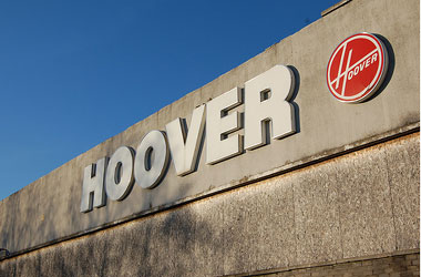 Pic of Hoover factory sign by Stevie Douglas