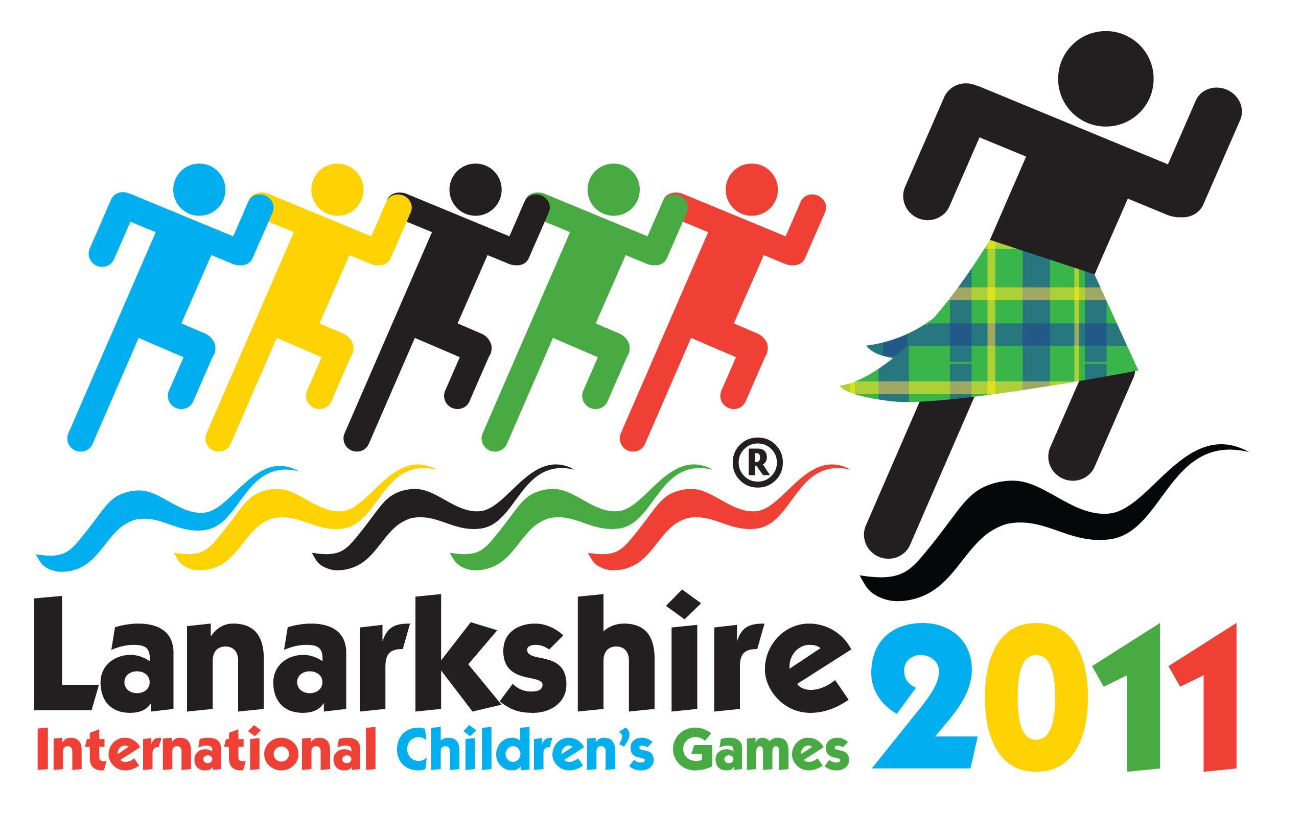 official logo for Lanarkshire 2011 International Children's Games