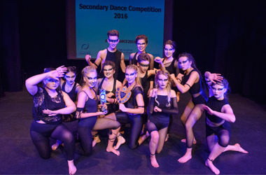 Active Schools 2016 dance competition winners for Best Choreography and S4-S6 Best Team Performance - Lesmahagow High School