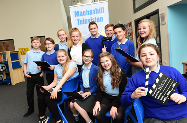 A group of P7 pupils has just finished producing the school's first ever news programme called Machanhill TV, or 'MTV' for short