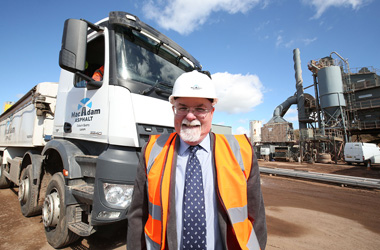 Stewart Denny on site  at Macadam asphalt
