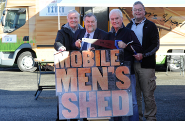 Men's shed going on the road
