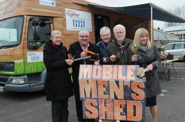 mobile men's shed at the John Wright Sports Centre in East Kilbride