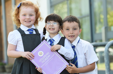 Mount Cameron Primary School P1 pupils demonstrate their enjoyment of Gaelic language, culture and heritage at the annual Provincial Mod in East Kilbride