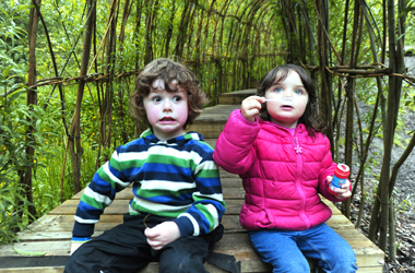 Photo credit: Getting playful at Clearburn Natural Play & Picnic Area, copyright Clyde and Avon Valley Landscape Partnership