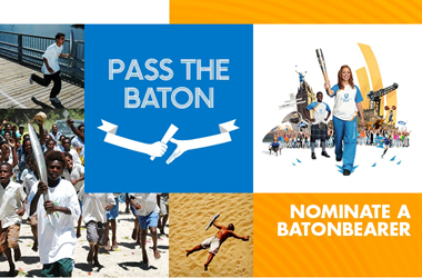 Pass the baton image taken from Glasgow 2014 website